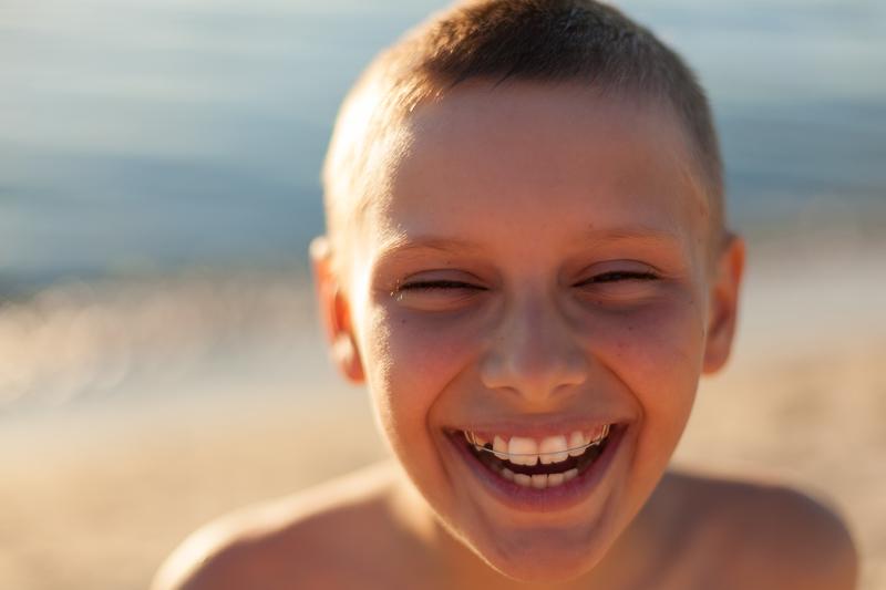 boy wearing braces